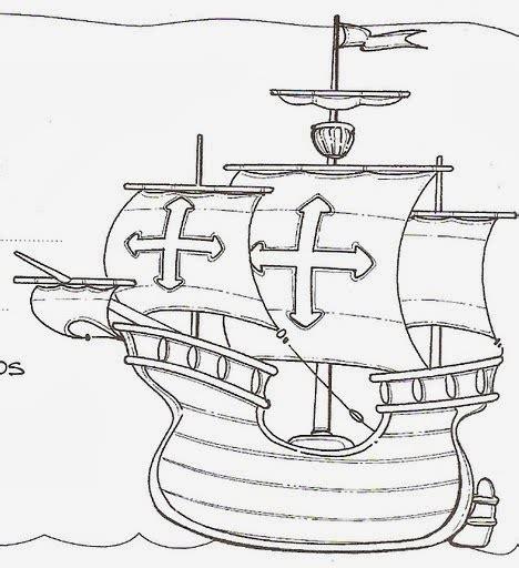 embarcaciones de cristobal colon para colorear naves columbus de cristobal para colorear opticanovosti