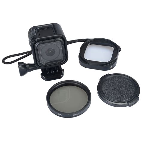 Filter Gopro 4 Session adapter ring cpl filter lens protective cap for gopro