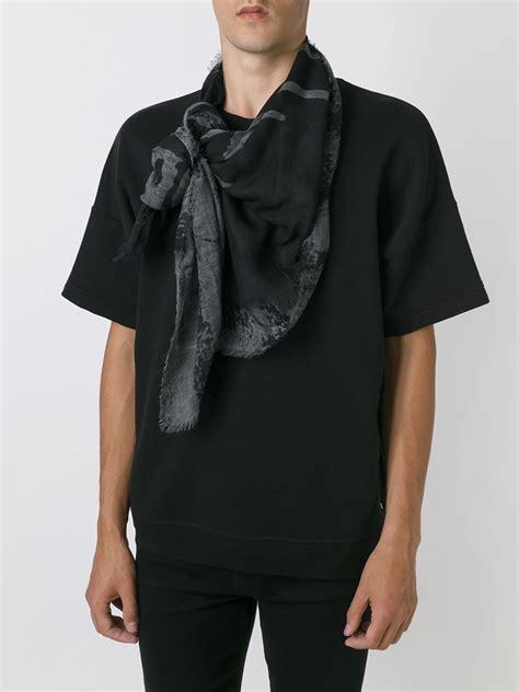diesel sabrot scarf in black for lyst