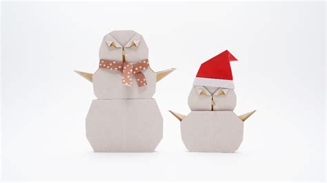 Origami Snowman - origami snowman jo nakashima