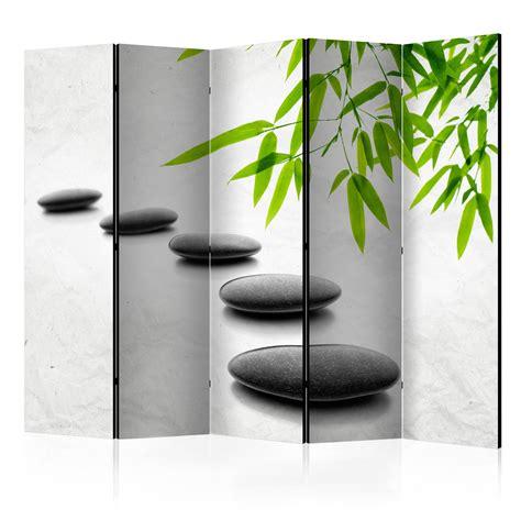 trennwand deko deko paravent raumteiler trennwand spa zen natur steine 10