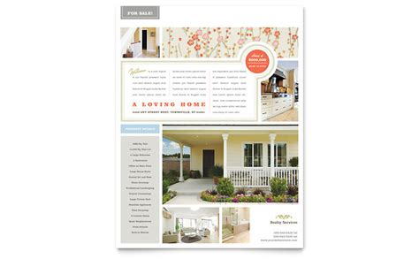 sle brochure templates microsoft word real estate home for sale flyer template word publisher