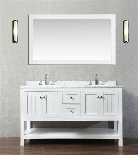 emily 60 quot bathroom vanity cottage style white beach