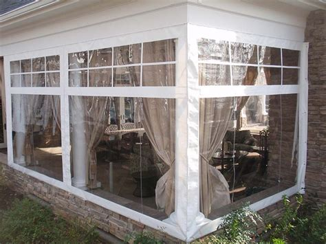 clear plastic curtains for screened porch clear vinyl porch enclosures