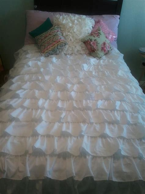 ruffled coverlet 17 best ideas about ruffle bedding on pinterest ruffled