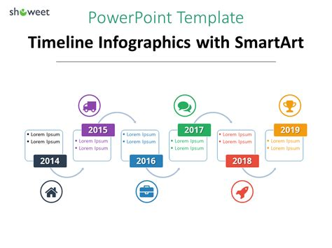 using a powerpoint template another exle of timeline infographics for powerpoint