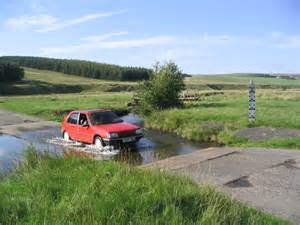 Ford Water File A Car Fording The Kale Water At Tow Ford Geograph