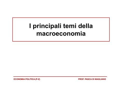 dispensa macroeconomia introduzione alla macroeconomia dispense