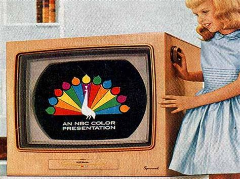 when was color tv introduced early big screen tvs search tvs then now