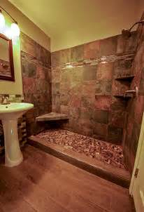 River Rock Bathroom Ideas River Rock Shower Floor Bathroom Remodel
