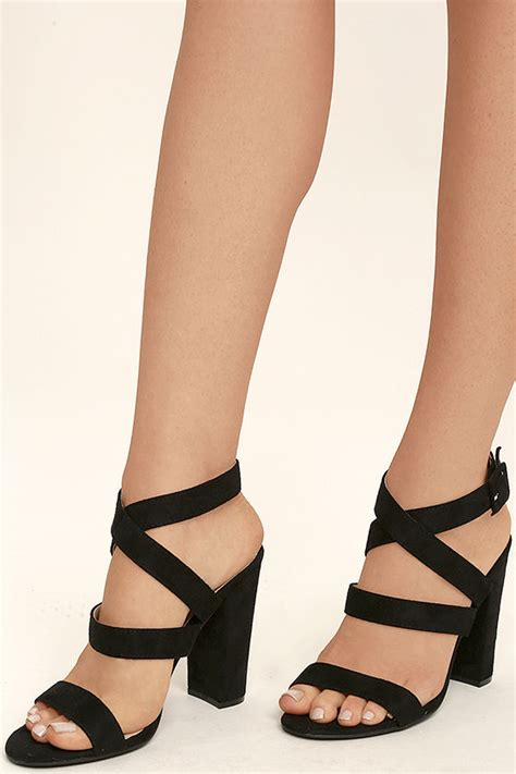 sandals high heels black heels ankle heels vegan suede heels