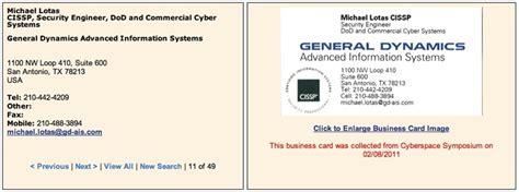 General Dynamics Business Card