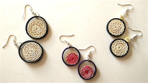 How To Make Earrings From Paper - how to make earrings using paper quilling my crafts