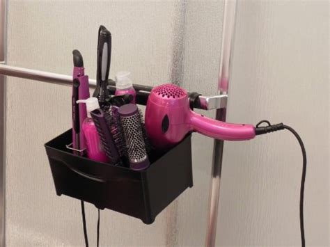 Hair Dryer And Straightener Hanger styleaway black organizer hanger for curling iron flat