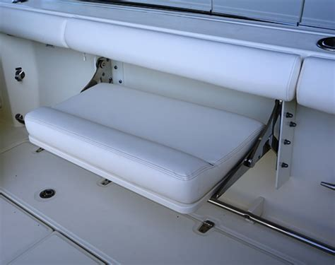 fold out bench seat 350 outrage boat model boston whaler
