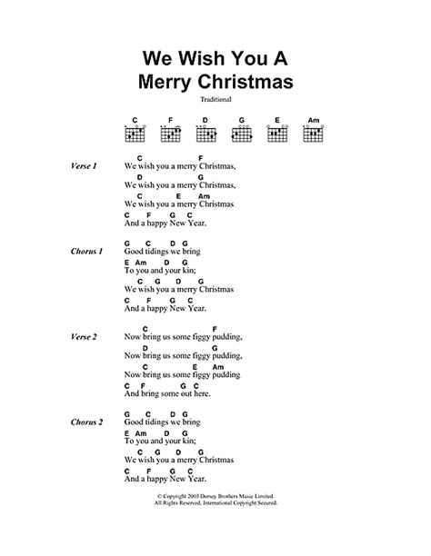 testo we wish you a merry we wish you a merry sheet by