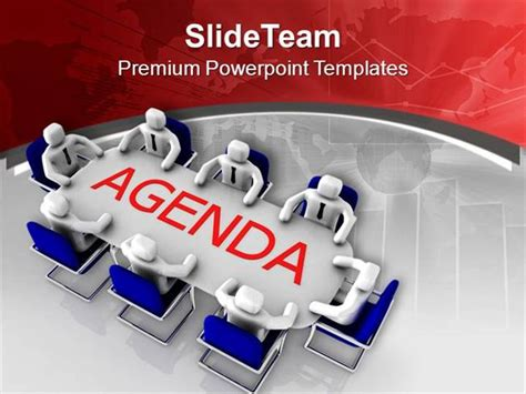 Meeting Powerpoint Template solve the agenda in team meeting powerpoint templates ppt
