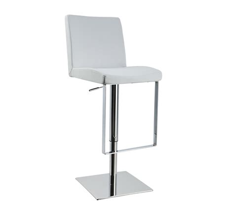 Modern White Bar Stools | dreamfurniture com t1068 eco leather contemporary bar white stool