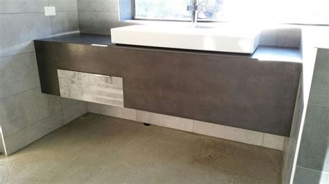 Polished Concrete Vanity by 1000 Images About Polished Concrete Bathroom Vanities On