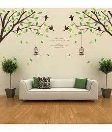 Tree Bird Cage 60x90 Wall Decor Upto 90 Wall For Home Decoration