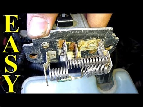 how to replace blower motor resistor hyundai elantra how to replace install ac heater blower fan motor 2001 06 hyundai elantra