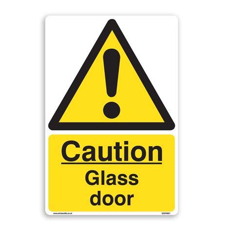 glass in a b label door caution glass door sign 5 pack a5 150mm x 200mm self