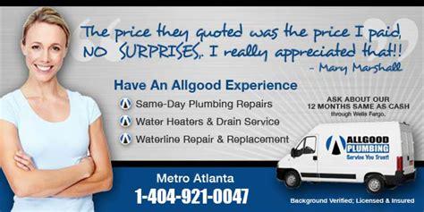 Plumbing Service Marietta Marietta Plumbers At All Plumbing Announce Service