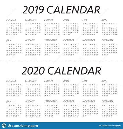 year   calendar vector design template stock vector illustration  date simple