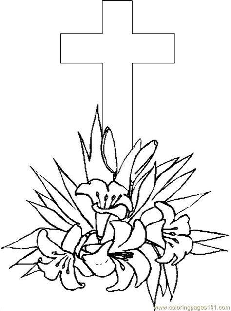 coloring pages of easter lilies cross lilies 4 coloring page free holidays coloring