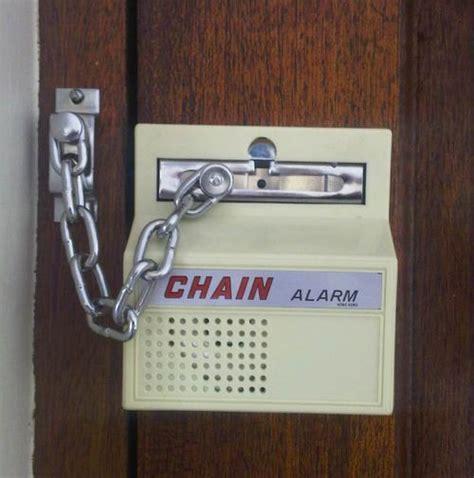 Door Chain Installation by Alarms Door Chain Burglar Alarm Easy To Install Scare