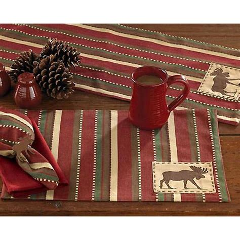 Cabin Placemats by Moose Patch Placemats And Table Runners Cabin Place