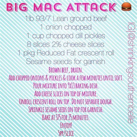 Mac Attack by Big Mac Attack Recipe Weight Watchers Yummies