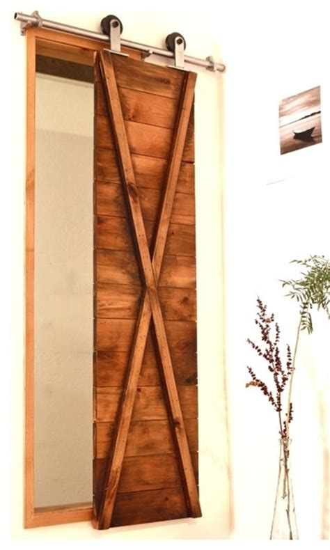 barn door window covering true x barn door shutter modern window treatments