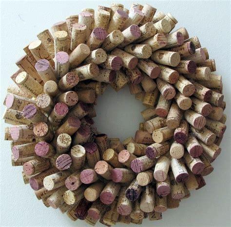 unique wine cork wreath 16 diameter wedding