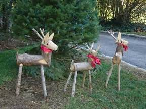Wooden reindeer with pretty bows saw these when i was overseas and