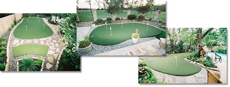 backyard golf backyard putting green dogs love turf lawns so will you improve your short game in