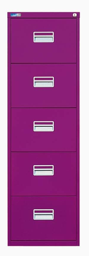 Purple Filing Cabinet Silverline 5 Drawer Filing Cabinet Purple