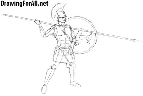 doodle how to make warrior how to draw an ancient warrior drawingforall net