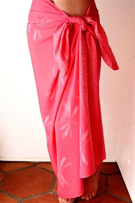caribbean wraps international wedding sarongs cover ups coral dragonfly batik sarong women s clothing beach wrap