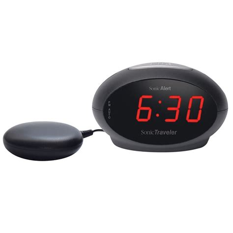 sonic alert traveler sbt600ss vibrating alarm clock harris communications