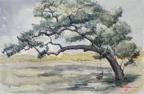 tree swing painting da187 tree swing painting by daniel adams painting by