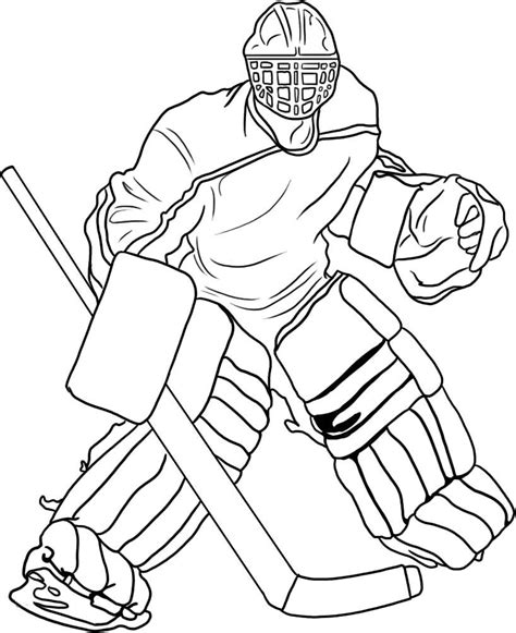 Printable Hockey Coloring Pages free printable hockey coloring pages for