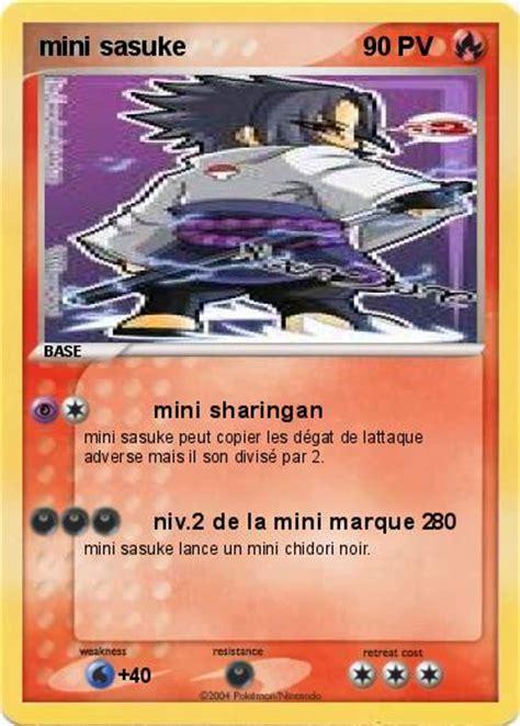 Saringan Mini Pok 233 Mon Mini Sasuke Mini Sharingan Ma Carte Pok 233 Mon