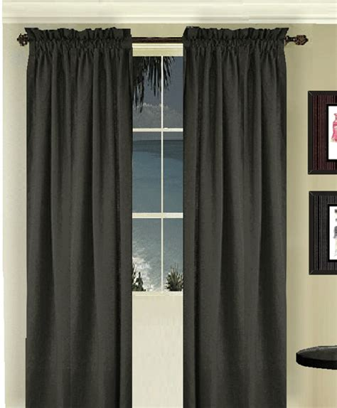 long valance curtains black long curtain set