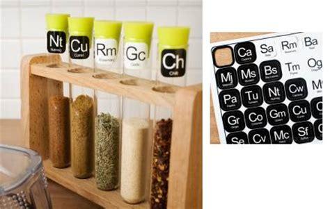 scientific theme spice rack