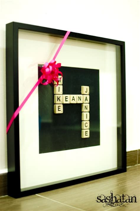 Scrabble Letters Home Decor by 35 Easy Diy Gift Ideas People Actually Want For
