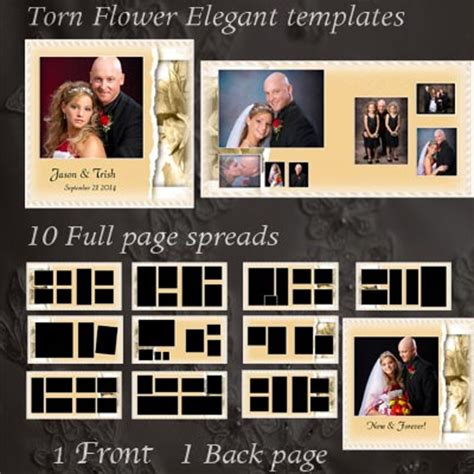 wedding album templates create custom wedding photo books