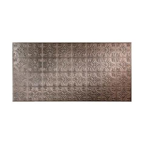 Fasade 96 in. x 48 in. Traditional 2 Decorative Wall Panel in Galvanized Steel S51 30   The Home