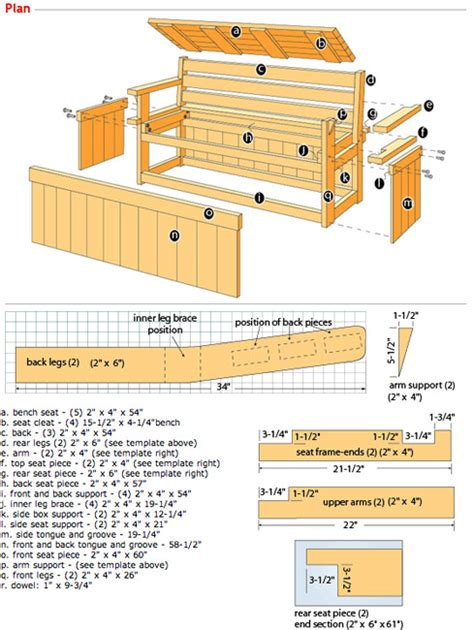 plans for deck benches woodwork outdoor storage bench ideas plans pdf download