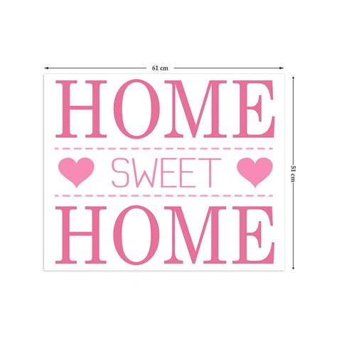 Home Wall Sticker home sweet home wall stickers by the binary box